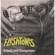 """The Fleshtones Armed And Dangerous UK 7"""" vinyl"""