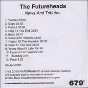 Click here for more info about 'The Futureheads - News And Tributes'