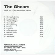 Click here for more info about 'The Ghears - Until You Feel What We Mean'
