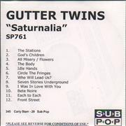 Click here for more info about 'The Gutter Twins - Quantity of Three Promo CDs'