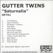 Click here for more info about 'The Gutter Twins - Saturnalia'