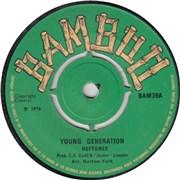 """The Heptones Young Generation UK 7"""" vinyl"""