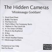 Click here for more info about 'The Hidden Cameras - Mississauga Goddam'