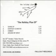 Click here for more info about 'The Holiday Plan - The Holiday Plan EP'