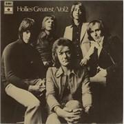 The Hollies Hollies' Greatest / Vol 2 UK vinyl LP