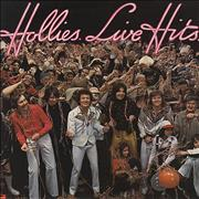 The Hollies Live Hits UK vinyl LP