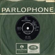 """The Hollies Yes I Will UK 7"""" vinyl"""