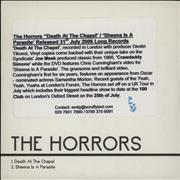 Click here for more info about 'The Horrors - Death At The Chapel'