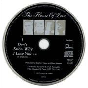 Click here for more info about 'The House Of Love - I Don't Know Why I Love You'