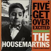 """The Housemartins Five Get Over Excited UK 12"""" vinyl"""