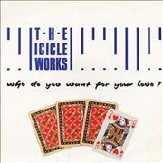 Click here for more info about 'The Icicle Works - Who Do You Want For Your Love?'