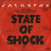 Click here for more info about 'The Jackson Five - State Of Shock - Injection label'