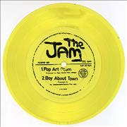 Click here for more info about 'The Jam - Pop Art Poem - Yellow Flexi'