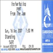 Click here for more info about 'The Jam - Set List + Ticket Stub'