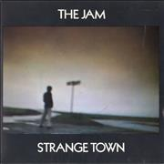 Click here for more info about 'The Jam - Strange Town + Sleeve'