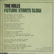 Click here for more info about 'The Kills - Future Starts Slow'