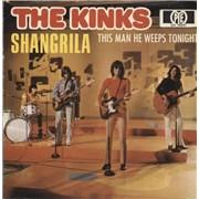 "The Kinks Shangrila + Sleeve Germany 7"" vinyl"