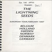 Click here for more info about 'The Lightning Seeds - European Tour - February 1997 Tour Itinerary'