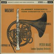 Click here for more info about 'The London Symphony Orchestra - Mozart: Clarinet Concerto / Horn Concerto Nos. 1 & 3 - WBg'