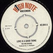 Click here for more info about 'The Melodians - Love Is A Good Thing'