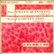 Click here for more info about 'The Melos Ensemble - Weber: Grand Quintetto / Mozart: Clarinet Trio - Test Pressing'