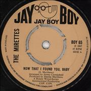 Click here for more info about 'The Mirettes - Now That I Found You, Baby'