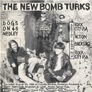 "The New Bomb Turks Dogs On 45 Medley (split) Italy 7"" vinyl"