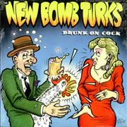"The New Bomb Turks Drunk On Cock EP - Pink Vinyl USA 10"" vinyl"