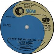 Click here for more info about 'The New Seekers - You Won't Find Another Fool Like Me'