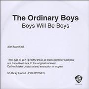 Click here for more info about 'The Ordinary Boys - Boys Will Be Boys'
