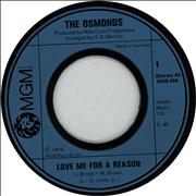 Click here for more info about 'The Osmonds - Love Me For A Reason'