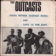Click here for more info about 'The Outcasts - Just Another Teenage Rebel - Poster p/s'