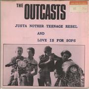 Click here for more info about 'The Outcasts - Just Another Teenage Rebel - pink p/s'
