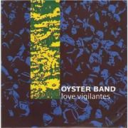 """The Oyster Band Love Vigilantes - Pink Vinyl + Poster Sleeve UK 10"""" vinyl"""