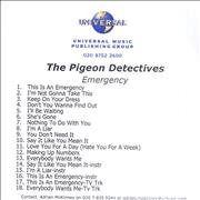 Click here for more info about 'The Pigeon Detectives - Emergency'