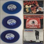 "The Police Six Pack - Blue Vinyl UK 7"" vinyl"