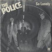 Click here for more info about 'The Police - So Lonely - Blue'