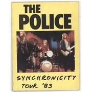 The Police Synchronicity Tour '83 UK tour programme