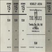 Click here for more info about 'The Police - Ticket Proofs'