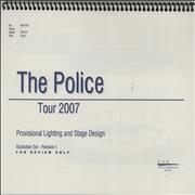 Click here for more info about 'The Police - Tour 2007 - Provisional Lighting and Stage Design - Illustration Set - Revision 1'