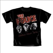 Click here for more info about 'The Police - World Tour 1979 T-Shirt - Small'