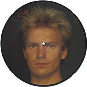 """The Police Wrapped Around Your Finger - Sting UK 7"""" picture disc"""