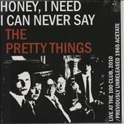 Click here for more info about 'The Pretty Things - Honey, I Need - (live) black vinyl'