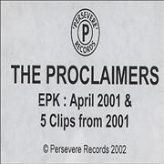 Click here for more info about 'The Proclaimers - EPK - April 2001'