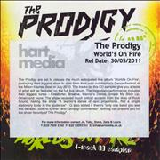 Click here for more info about 'The Prodigy - Alive - The World's On Fire - Fully Autographed'
