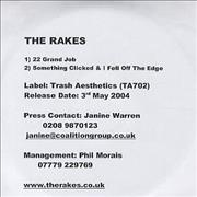 Click here for more info about 'The Rakes (Indie) - 22 Grand Job'