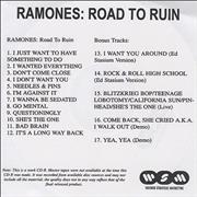 Click here for more info about 'The Ramones - Road To Ruin'