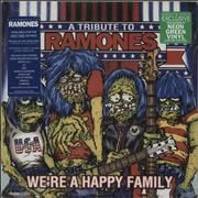Click here for more info about 'The Ramones - We're A Happy Family - A Tribute To Ramones - Neon Green Vinyl'