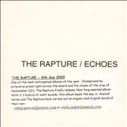Click here for more info about 'The Rapture - Echoes'