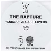 Click here for more info about 'The Rapture - House Of Jealous Lovers'